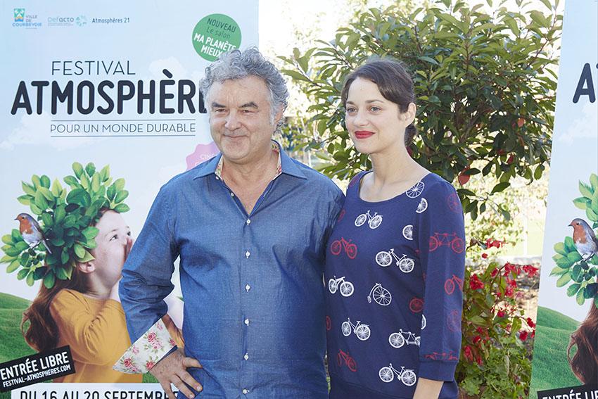 Pascal Signolet aux côtés de Marion Cotillard © Festival Atmosphères