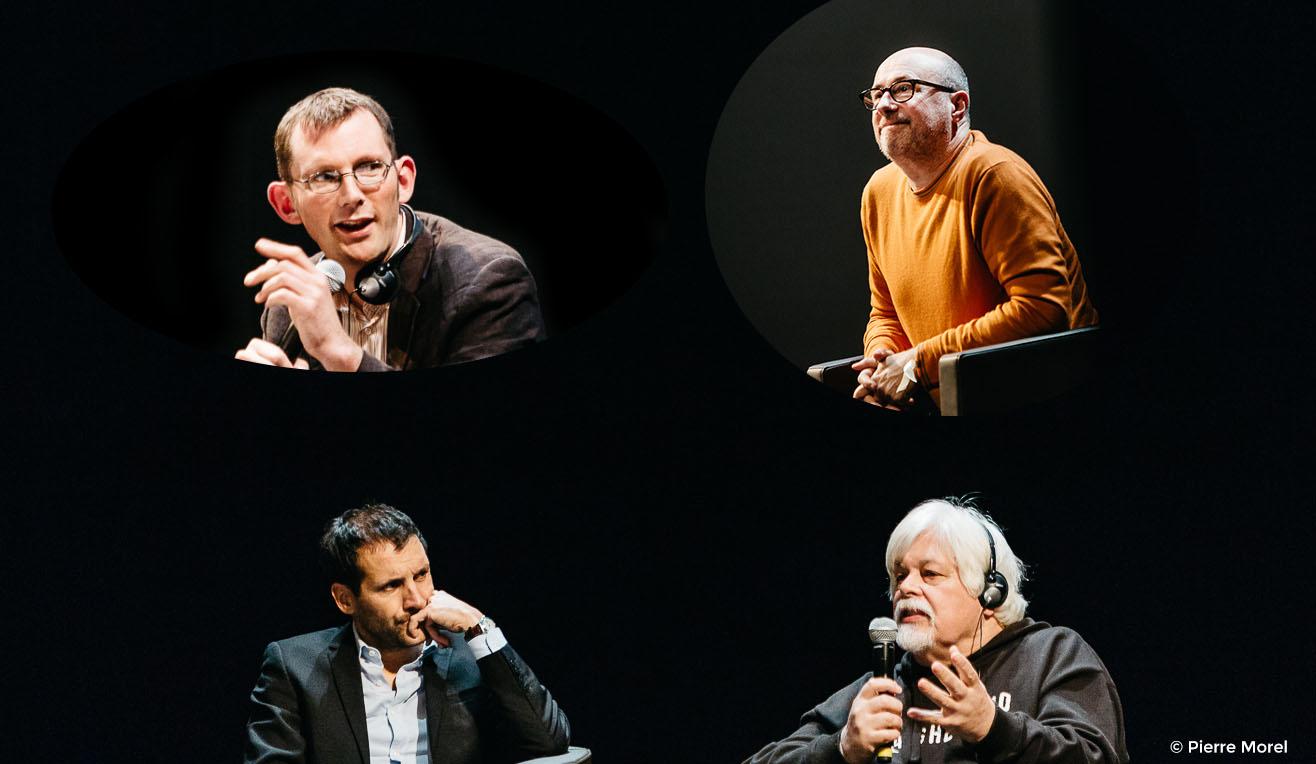 Le 5 décembre à la Villette, Rob Hopkins, Emmanuel Druon, Vandana Shiva, Lionel Astruc, Cyril Dion, Lamya Essemlali et Paul Watson proposaient des solutions positives pour construire un autre monde.