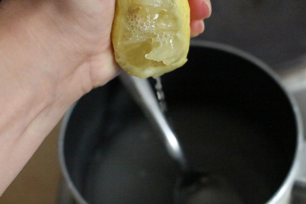 Cire orientale - étape 2 - citron