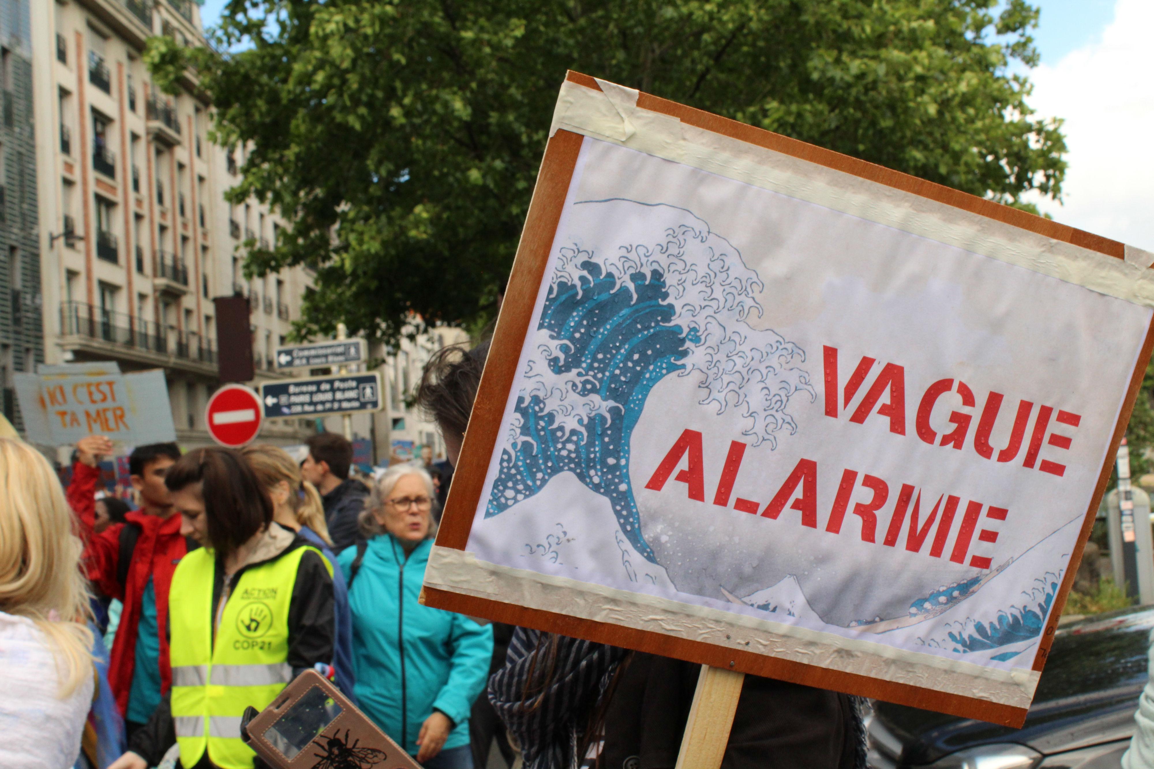 Vague alarme, à la Marche pour l'Océan 2019 / ©Cypriane El-Chami