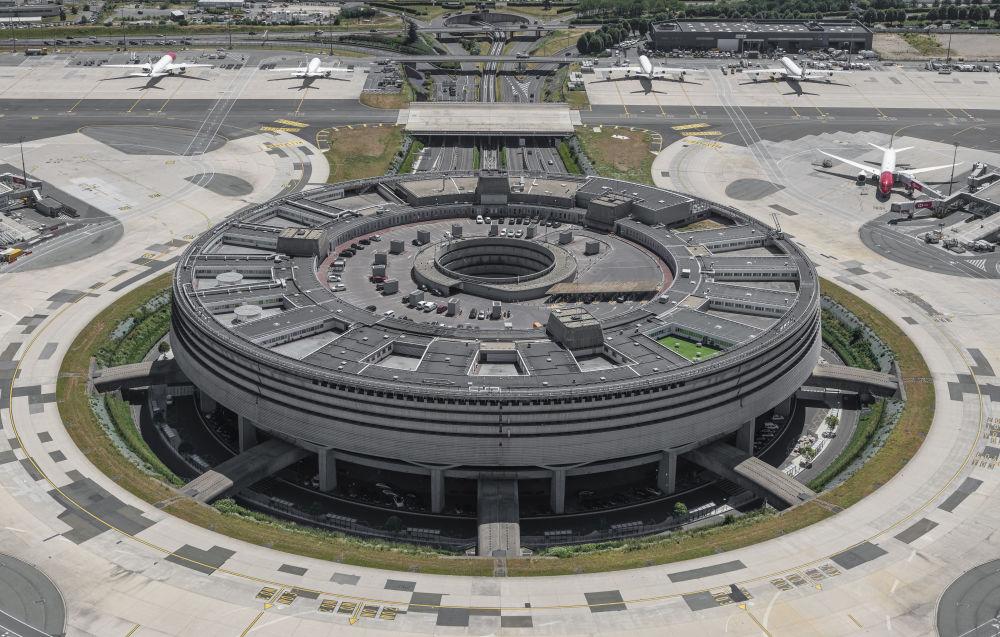 Vue aerienne du Terminal 1, Paris-Charles de Gaulle / © Alain Leduc pour Groupe ADP