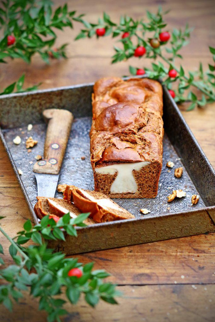 Cake surprise aux cèpes à retrouver dans « Les 4 saisons du champignon » de Linda Louis / ©Linda Louis