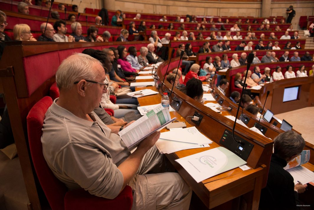 La première séance de la Convention citoyenne pour le climat s'est tenue le 4 octobre 2019 à l'Assemblée nationale.