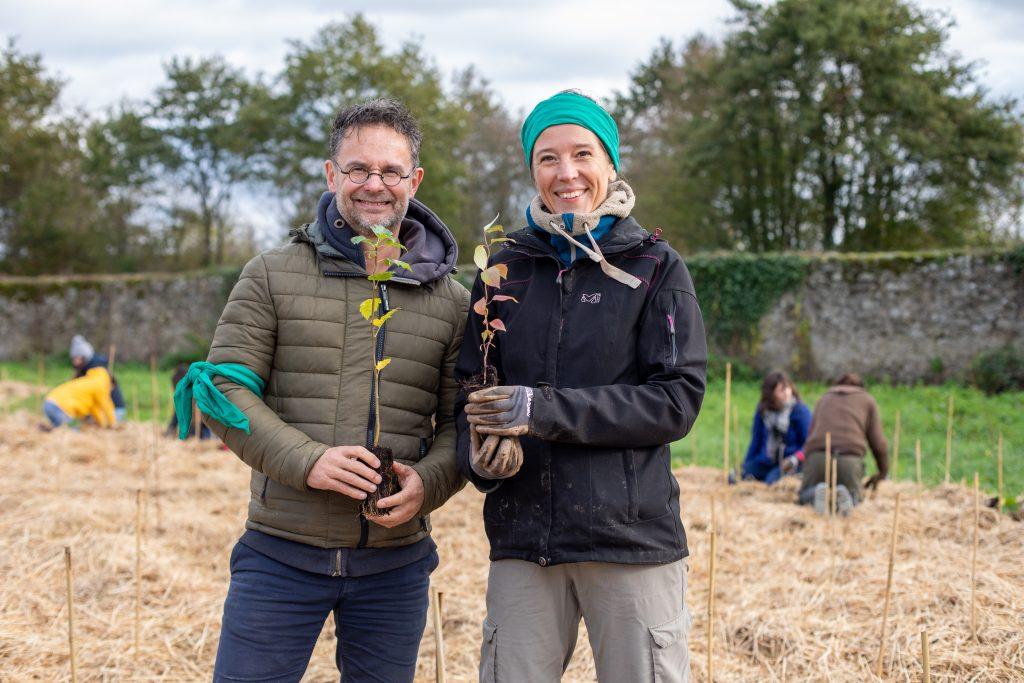 Jim Bouchet et Stéphanie Saliou, les co-fondateurs de Mini Big Forest / ©Cecile DeBise
