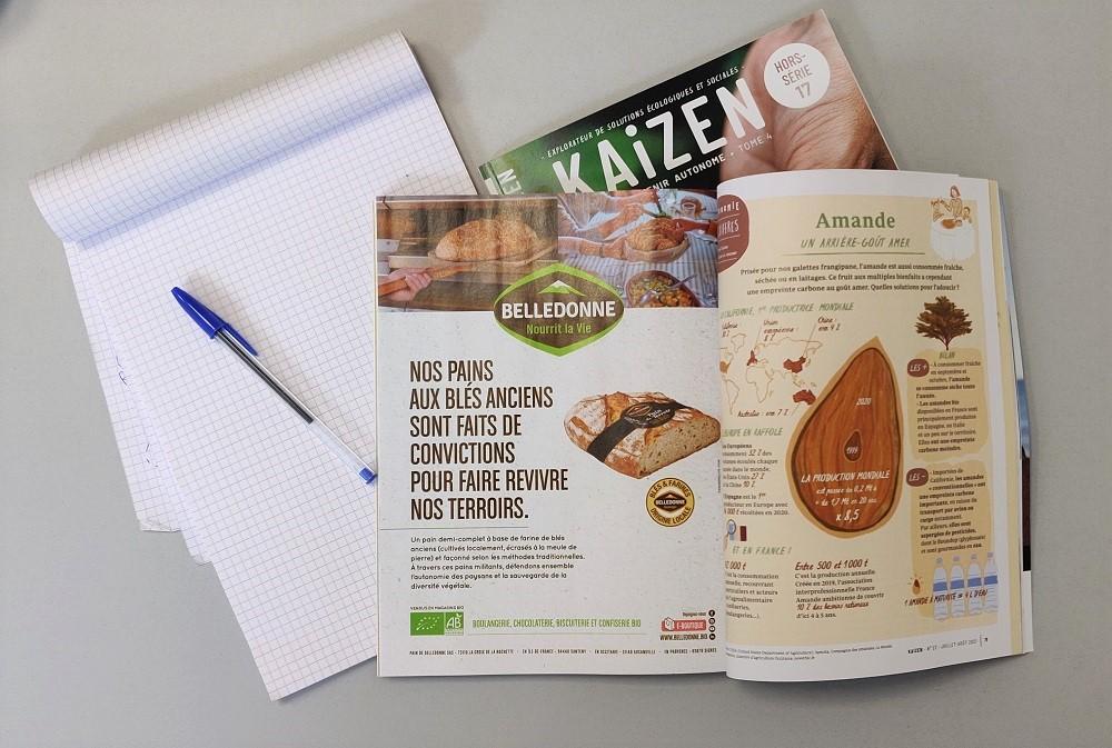 Un exemple de publicité pour du pain dans le magazine Kaizen. ©Kaizen